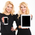 beautiful sisters twins showing tablet and cellphone with blank screens stock photo © deandrobot