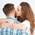 bacio · donna · uomo · soggiorno - foto d'archivio © deandrobot
