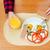 kalória · tükörtojás · kilátás · fehér · tányér · pizza - stock fotó © deandrobot