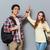 gelukkig · studenten · high · five · school · onderwijs · vriendschap - stockfoto © deandrobot