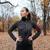 mulher · corredor · quente · roupa · fones · de · ouvido · outono - foto stock © deandrobot