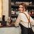 pincérnő · kávézó · adag · vásárló · kávé · nők - stock fotó © deandrobot