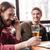 mannen · vrienden · vergadering · cafe · drinken · bier - stockfoto © deandrobot
