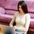 привлекательный · молодые · брюнетка · женщину · сидят · полу - Сток-фото © deandrobot