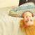 primo · piano · ritratto · sorridere · letto · home - foto d'archivio © deandrobot