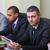 multi ethnic business team at a meeting focus on caucasian man stock photo © deandrobot
