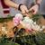 manos · mujer · florista · ramo · rosa · rosas - foto stock © deandrobot