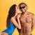 nyár · bikini · lány · fiúbarát · pár · szeretet - stock fotó © deandrobot