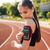 femminile · jogger · ascolto · musica · cellulare · ritratto - foto d'archivio © deandrobot