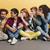 grupo · jovem · amigos · estúdio - foto stock © deandrobot