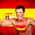 счастливым · испанский · футбола · вентилятор · флаг - Сток-фото © deandrobot