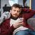 исчерпанный · человека · борющийся · парень · бизнеса · стены - Сток-фото © deandrobot