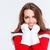 очаровательный · девушки · портрет · расплывчатый · Рождества - Сток-фото © deandrobot