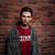 portré · fiatalember · hallgat · zene · fülhallgató · város - stock fotó © deandrobot