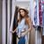 jonge · vrouw · kiezen · shirt · kleding · winkel · mooi · meisje - stockfoto © deandrobot