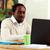 afro-amerikaanse · zakenman · laptop · kantoor · zakenlieden · technologie - stockfoto © deandrobot