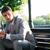 giovani · imprenditore · tempo · guardare · primo · piano - foto d'archivio © deandrobot