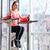 vrouw · atleet · abdominaal · spieren · gymnasium - stockfoto © deandrobot