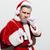 serious man santa claus with present sack standing and smoking stock photo © deandrobot