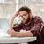uomo · occhiali · seduta · studiare - foto d'archivio © deandrobot