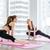 alegre · encajar · mujeres · pilates · ejercicio · retrato - foto stock © deandrobot
