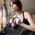 kettlebell · swing · allenamento · formazione · donna · palestra - foto d'archivio © deandrobot