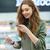 wesoły · kobieta · produktu · brunetka · supermarket - zdjęcia stock © deandrobot