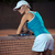 woman resting after match at tennis court stock photo © deandrobot