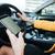 mobil · GPS · vezetés · irányok · illusztráció · terv - stock fotó © deandrobot