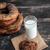 melk · croissant · cookies · eigengemaakt · jam · glas - stockfoto © deandrobot