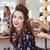 mooie · vrouw · kam · heldere · foto · vrouw · gezicht - stockfoto © deandrobot