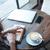 девушки · сидят · таблице · книга · кофе · портрет - Сток-фото © deandrobot