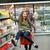 persone · alimentari · cart · gruppo · shopping · verdura - foto d'archivio © deandrobot