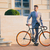 portrait of a handsome businessman with bicycle stock photo © deandrobot