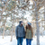 hermosa · pie · junto · parque · retrato - foto stock © deandrobot