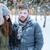 3 · persone · piedi · neve · ridere · uomo · sport - foto d'archivio © deandrobot