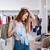 mulher · jovem · algo · compras · centro · moda - foto stock © deandrobot
