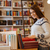 nő · könyv · bolt · portré · fiatal · lezser - stock fotó © deandrobot