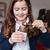 little · girl · alimentação · maçã · retrato · bonitinho · sessão - foto stock © deandrobot
