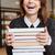 vrouwelijke · student · bibliotheek · boek · meisje - stockfoto © deandrobot