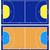 ハンドボール · 裁判所 · 孤立した · 白 · フィールド · ボール - ストックフォト © dece
