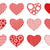 set of different hearts stock photo © dece