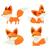 Cute · Cartoon · Fox · сидят · улыбка · собака - Сток-фото © decorwithme