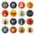 set of flat design halloween icons stock photo © decorwithme