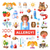 set of flat design allergy and allergen icons infographics elements stock photo © decorwithme
