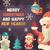 gelukkig · nieuwjaar · vrolijk · christmas · poster · elf - stockfoto © decorwithme