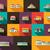 ingesteld · ontwerp · gebouwen · pictogrammen · vector · business - stockfoto © decorwithme