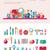 cosmético · creme · projeto · cara · mãos · cuidados · com · a · pele - foto stock © decorwithme