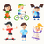 children   flat design characters set stock photo © decorwithme