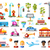 urban objects vector illustrative icon set with infographic elements stock photo © decorwithme